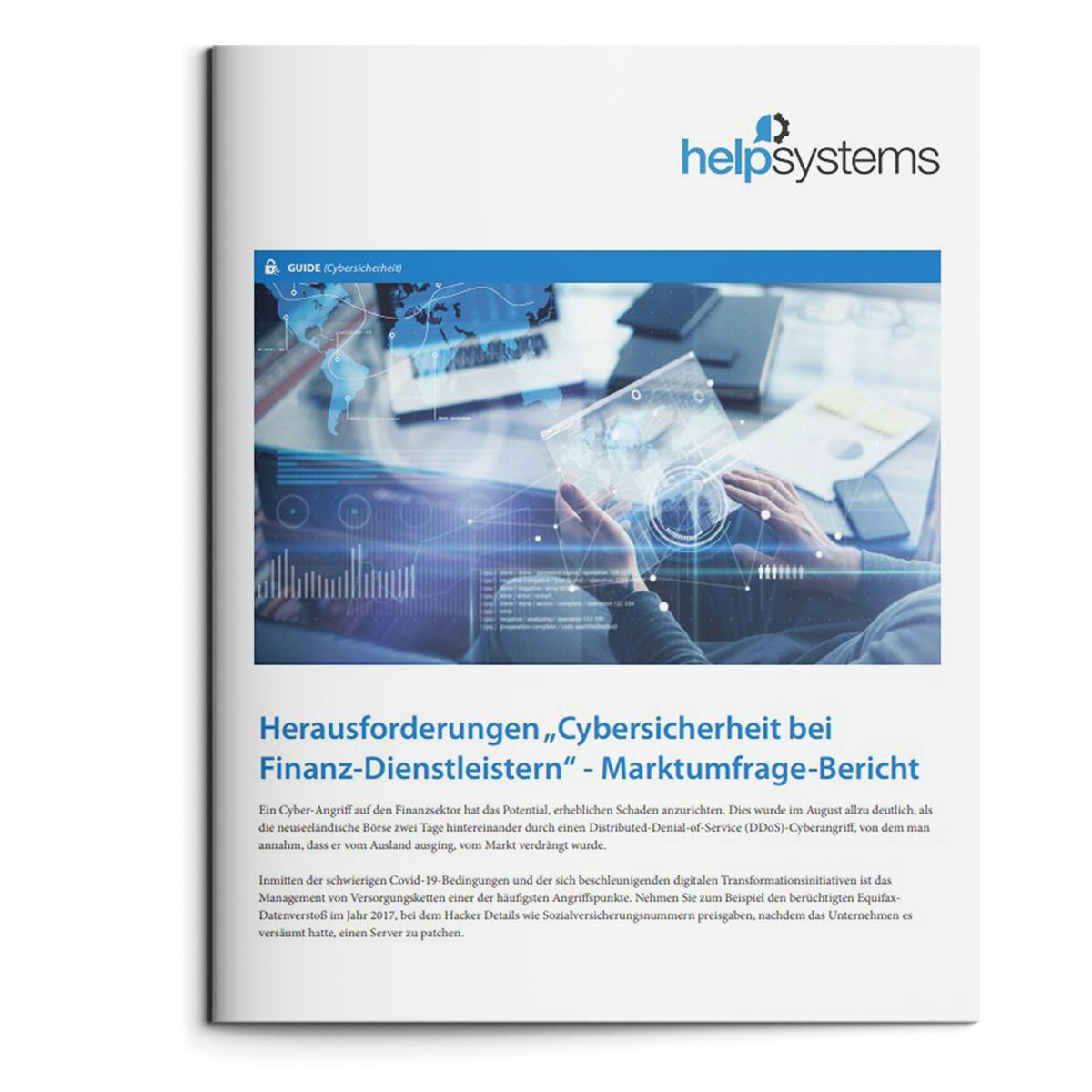 """Herausforderungen """"Cybersicherheit bei Finanz-Dienstleistern"""" - Marktumfrage-Bericht"""