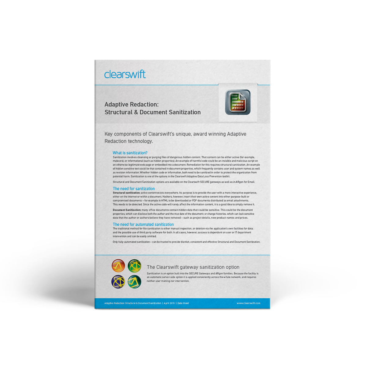 Clearswift Structural Sanitization datasheet