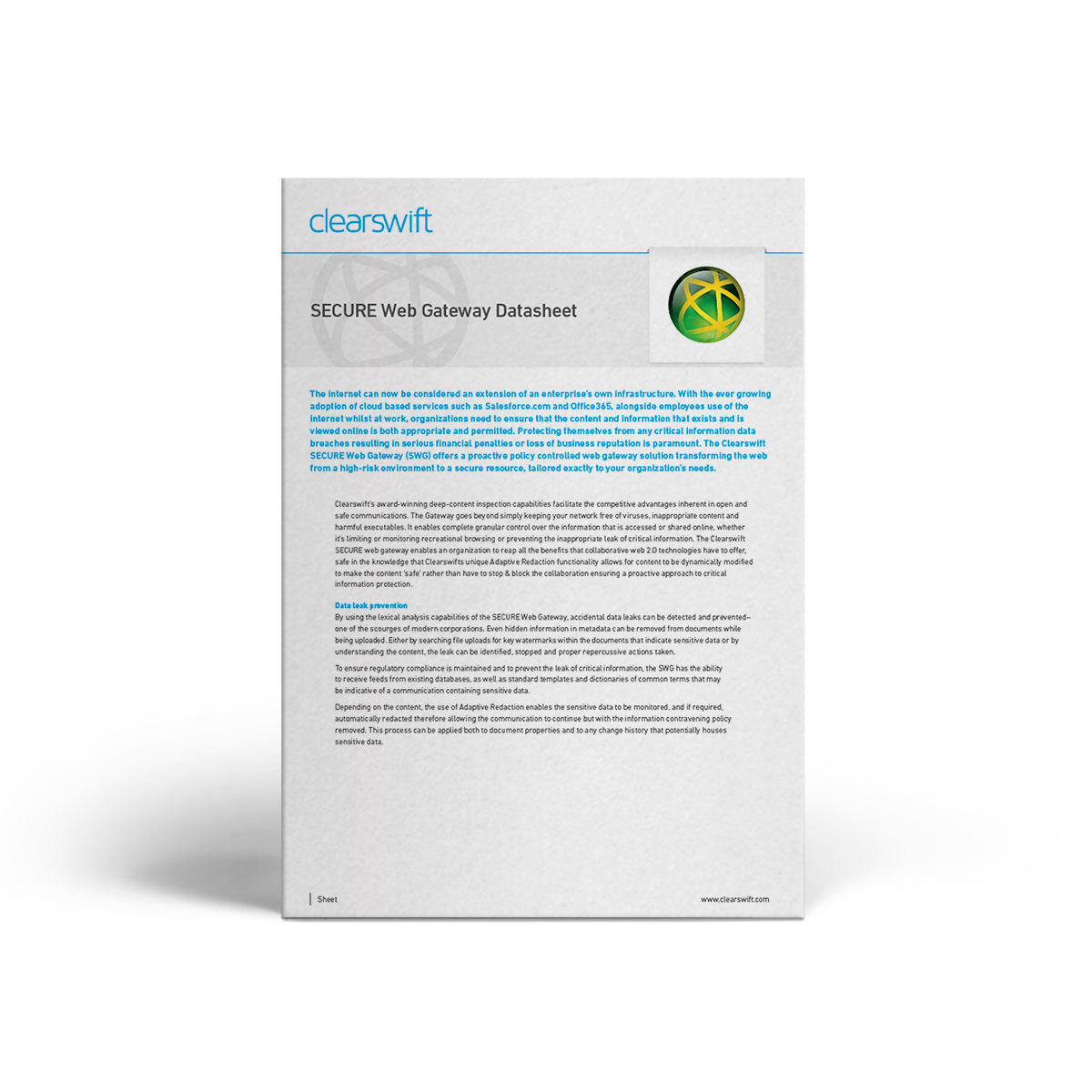 Clearswift SWG datasheet