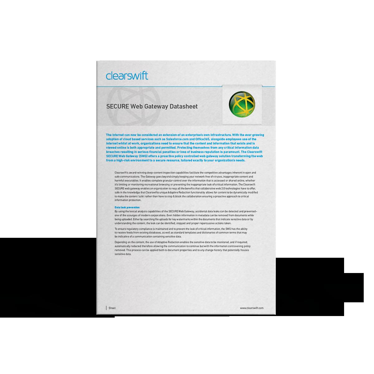 Clearswift SWG datasheet